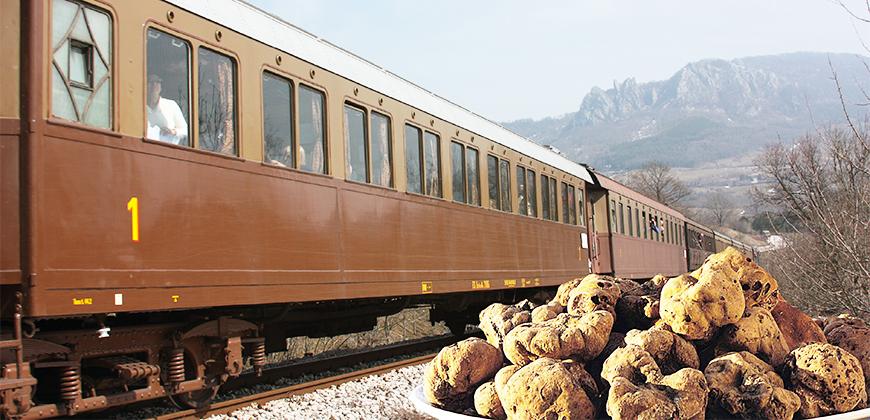treno storico con tartufo